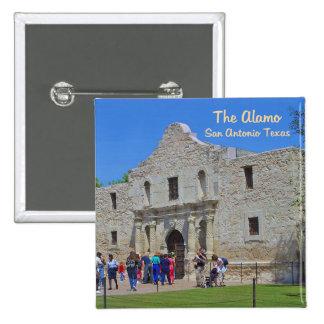 The Alamo San Antonio Texas 2 Inch Square Button
