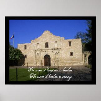 The Alamo Texas-Secret of Happiness Poster