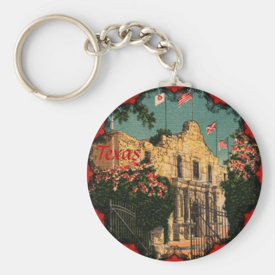 The Alamo Vintage Texas Keychain