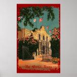 The Alamo Vintage Texas Poster
