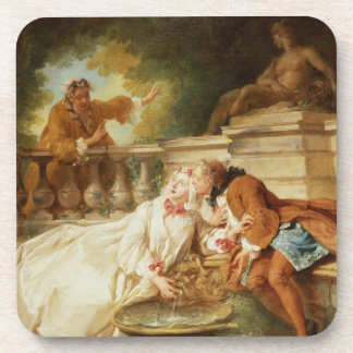 The Alarm, 1723 (oil on canvas) Coaster