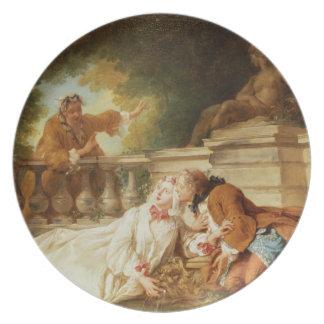 The Alarm, 1723 (oil on canvas) Melamine Plate