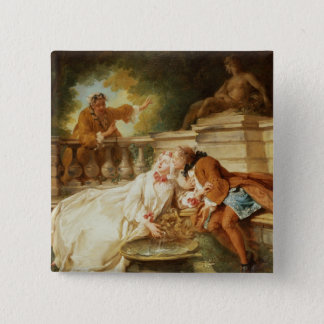 The Alarm, 1723 (oil on canvas) Pinback Button