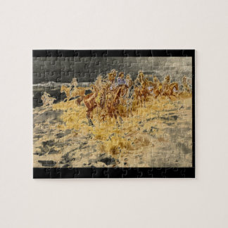 The Alarm', Charles M. Russell_Art of America Jigsaw Puzzle
