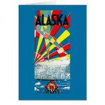 The Alaska Line Steamship Poster Card