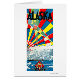 The Alaska Line Steamship Poster Greeting Card