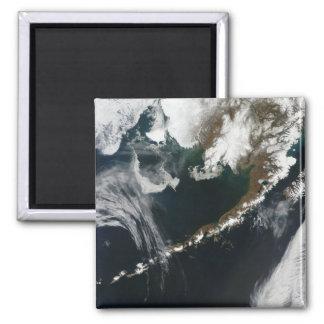 The Alaskan Peninsula and Aleutian Islands 2 Inch Square Magnet