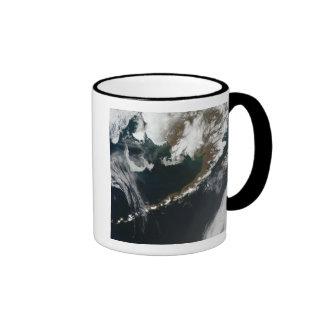 The Alaskan Peninsula and Aleutian Islands Ringer Coffee Mug