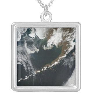 The Alaskan Peninsula and Aleutian Islands Square Pendant Necklace