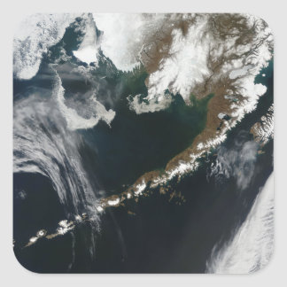The Alaskan Peninsula and Aleutian Islands Square Sticker