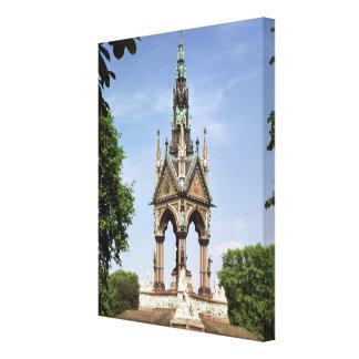 The Albert Memorial from the Albert Hall Canvas Print
