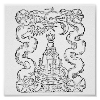 The Alchemical Fountain Poster