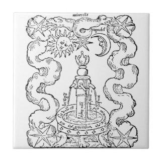 The Alchemical Fountain Ceramic Tile