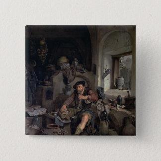 The Alchemist, 1663 Pinback Button