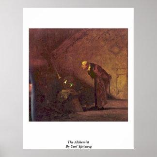 The Alchemist By Carl Spitzweg Print