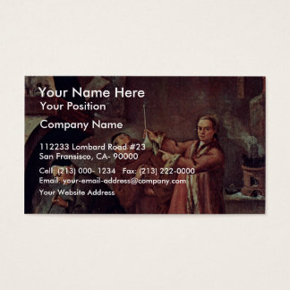 The Alchemist By Longhi Pietro (Best Quality) Business Card