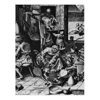 The Alchemist by Pieter Bruegel the Elder Postcard