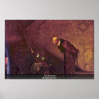 The Alchemist By Spitzweg Carl Print
