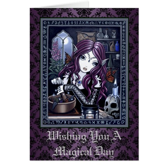 """""""The Alchemist"""" Gothic Magical Fairy Art Card"""