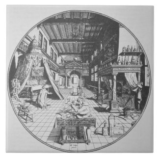 The Alchemist in his Laboratory, from 'Amphitheatr Tile