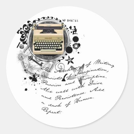 The Alchemy of Writing Classic Round Sticker