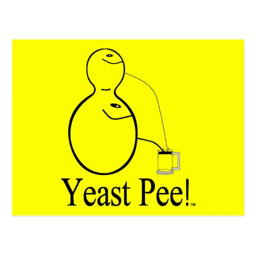 The Alcohol (Beer) You Drink Is Yeast Pee! Postcard