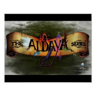 The Aldaya Series Banner Black Background Posters