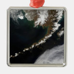 The Aleutian Islands and the Alaskan peninsula Square Metal Christmas Ornament