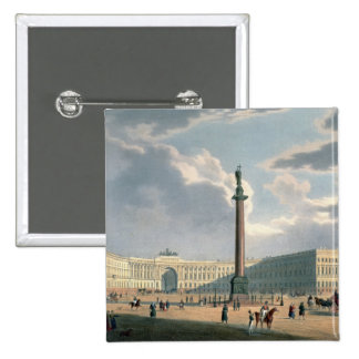 The Alexander Column and the Army Headquarters 2 Inch Square Button