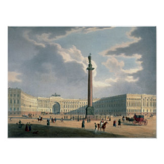 The Alexander Column and the Army Headquarters Poster