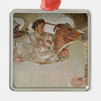The Alexander Mosaic Square Metal Christmas Ornament