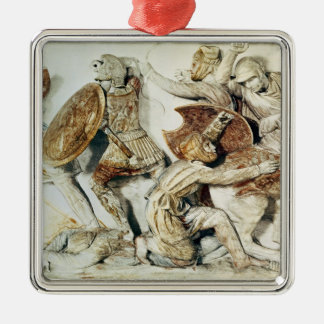 The Alexander Sarcophagus Square Metal Christmas Ornament