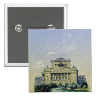 The Alexander Theatre in St. Petersburg, 1841 Pinback Button