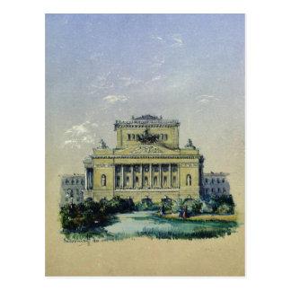 The Alexander Theatre in St. Petersburg, 1841 Postcard