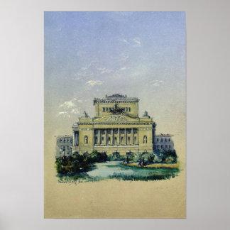 The Alexander Theatre in St. Petersburg, 1841 Print