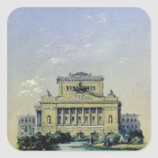 The Alexander Theatre in St. Petersburg, 1841 Square Sticker