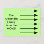 [ Thumbnail: The Alexandra Family Is On The Move! Postcard ]