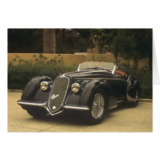 The Alfa Romeo 8C 2900B is a very rare and very Greeting Card
