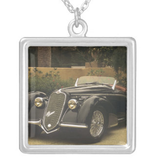 The Alfa Romeo 8C 2900B is a very rare and very Square Pendant Necklace