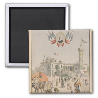 The Algerian Pavilion at the Universal Exhibition 2 Inch Square Magnet