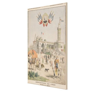 The Algerian Pavilion at the Universal Exhibition Canvas Print