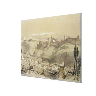 The Alhambra from the Albay, from 'Sketches and Dr Canvas Print