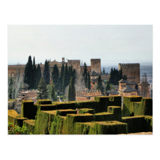 The Alhambra palace in Spain Postcard