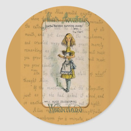 The Alice Collection: Alice Telescoping Classic Round Sticker