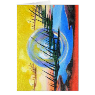 THE ALIEN ABSTRACT by Leomariano Greeting Cards