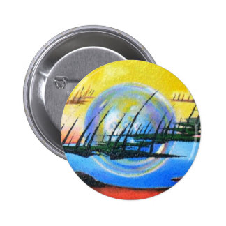 THE ALIEN ABSTRACT by Leomariano Pinback Buttons