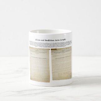 The Alien and Sedition Acts 1798 Coffee Mug