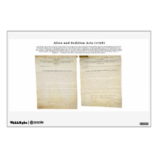 The Alien and Sedition Acts 1798 Wall Sticker