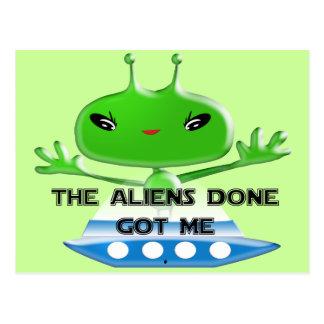 The Aliens Done Got Me Postcard