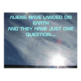 The Alien's One Question Postcard